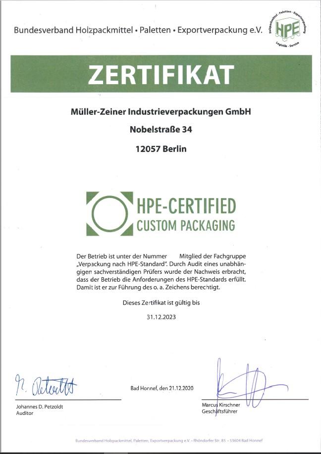 HPE Zertifikat 2023